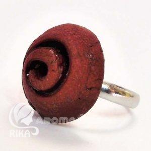 RIKA AromaÉkszer - Vörös-barna spirálmintás illatosítható kerámia gyűrű