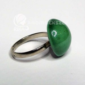 RIKA AromaÉkszer - Zöld mázas kerámia gyűrű
