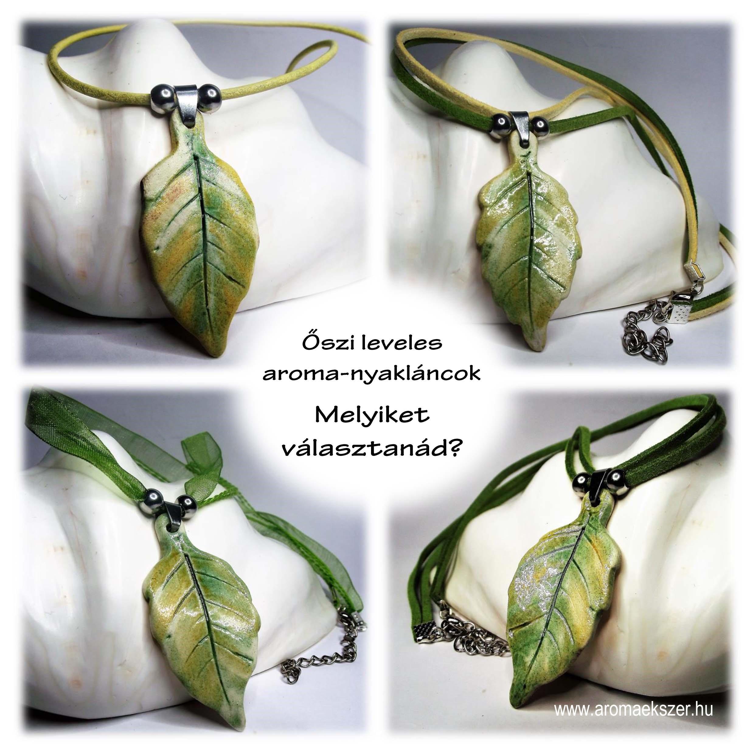 Őszi leveles aroma nyakláncok