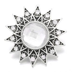 Napocska - Fehér kristályköves fém ékszer patent