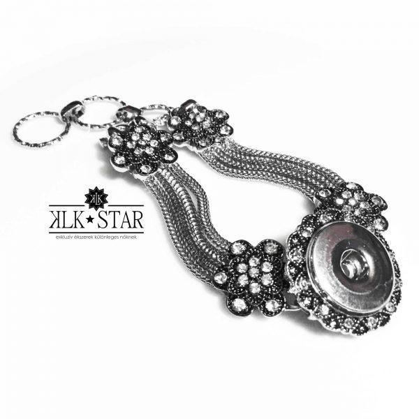 Virágos patent ékszer karkötő alap - KLK*Star EXTRA