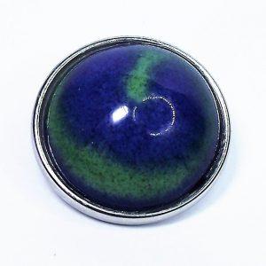 Kék-zöld mázas kerámiapatent - www.aromaekszer.hu