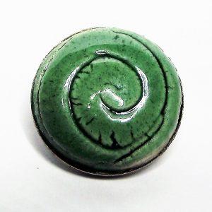 Zöld mázas spirálmintás kerámiapatent - www.aromaekszer.hu
