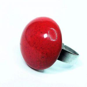 Csábító piros - kerámia gyűrű - www.aromaekszer.hu