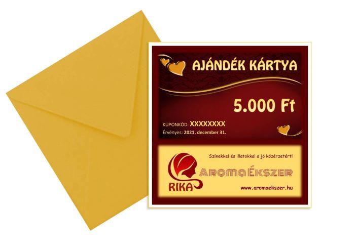 RIKA Kerámia és AromaÉkszer AJÁNDÉK KÁRTYA 5000 Ft - www.aromaekszer.hu