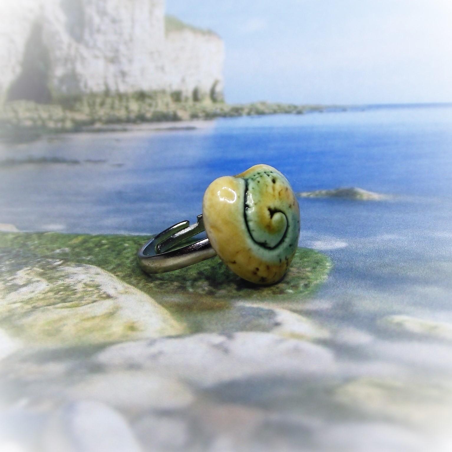 Itt a nyár kedvence! Spirálmintás kerámia gyűrű