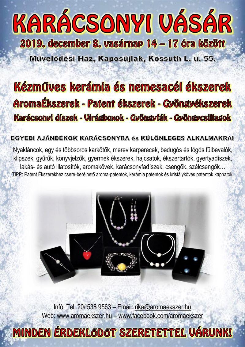 KÉZMŰVES ÉKSZEREK KARÁCSONYI VÁSÁRA 2019 - www.aromaekszer.hu