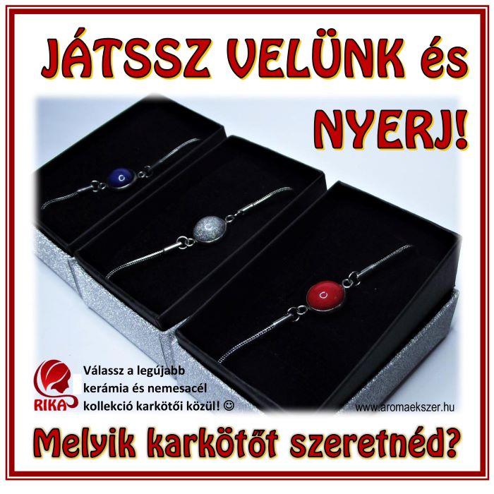JÁTSSZ VELÜNK és NYERJ KARKÖTŐT! - www.aromaekszer.hu