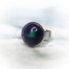 Kék-zöld kerámiadíszes nemesacél gyűrű 1,2 - www.aromaekszer.hu