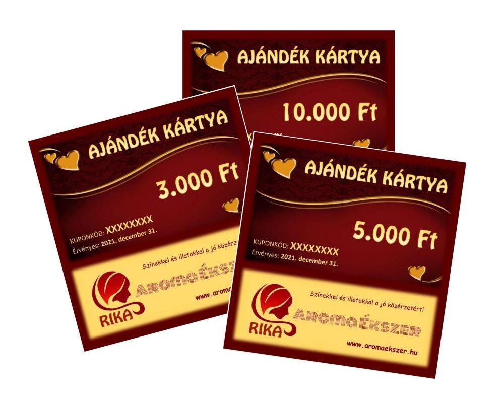 RIKA Kerámia és AromaÉkszer VIRTUÁLIS AJÁNDÉK KÁRTYÁK www.aromaekszer.hu